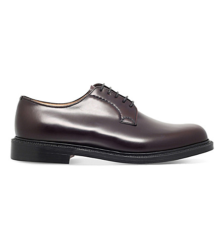 CHURCH Shannon leather derby shoes (Wine