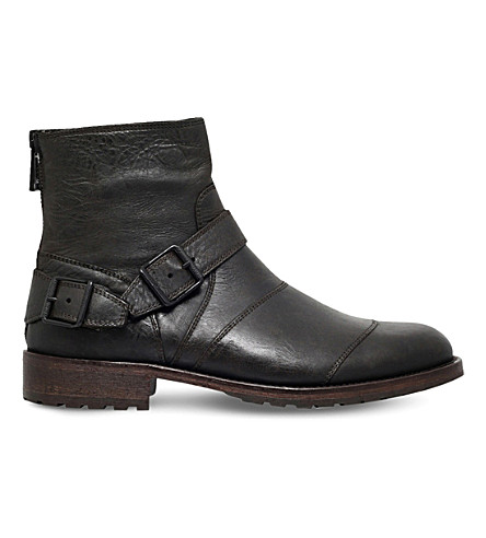 BELSTAFF Trailmaster leather ankle boots (Black