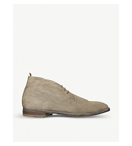 OFFICINE CREATIVE Three-eye suede desert boots (Taupe
