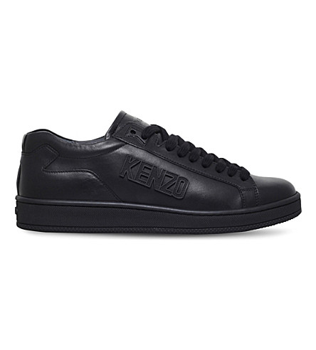 KENZO Tennix leather trainers (Black