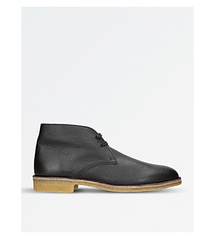 BOTTEGA VENETA Leather desert boots (Dark+brown