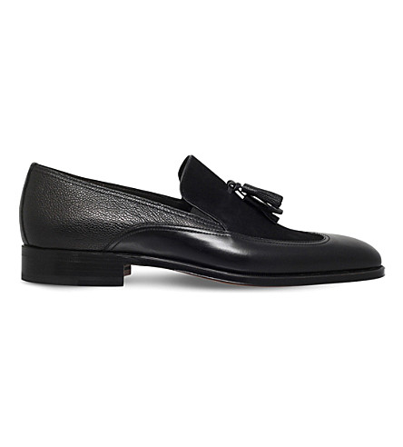 STEMAR Tasselled leather shoes (Black
