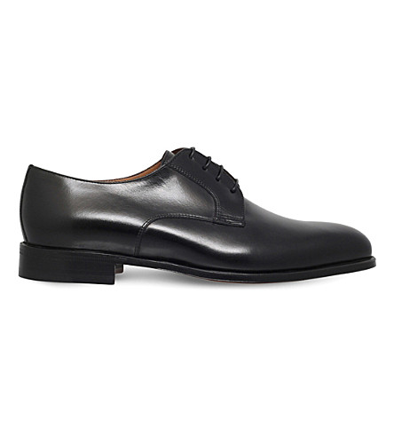 STEMAR Lace-up leather Derby shoes (Black