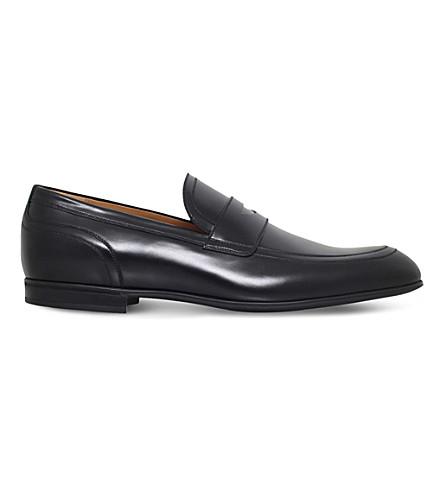 GUCCI 拉韦洛皮革便士便鞋 (黑色