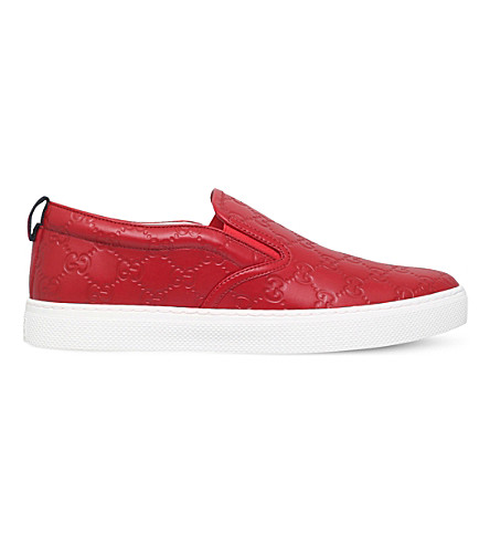 GUCCI Dublin leather skate shoes (Red