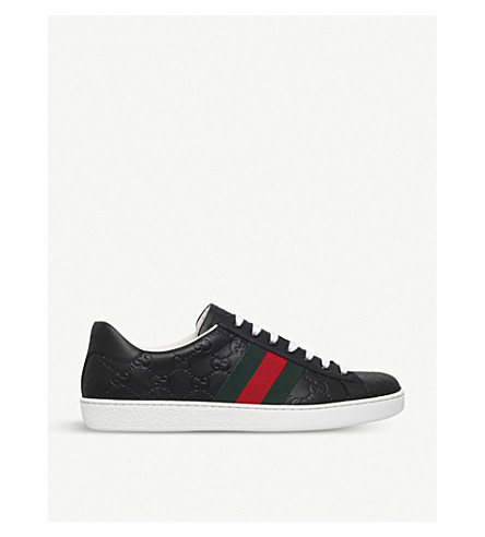 GUCCI New Ace leather trainers (Black