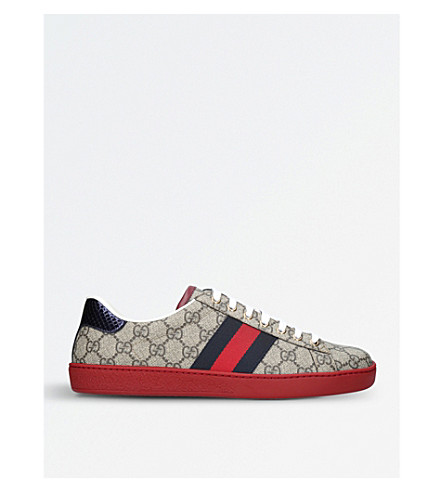 GUCCI New Ace GG canvas trainers (Brown/oth