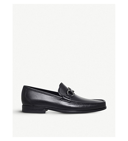 SALVATORE FERRAGAMO Grandioso leather loafers (Black