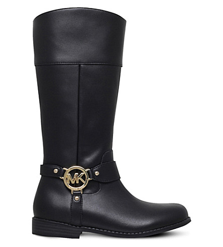 MICHAEL MICHAEL KORS Zia-Emma harness leather boots 6-10 years (Black