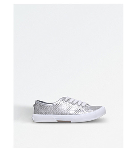 MICHAEL MICHAEL KORS Zia-ima Boerum metallic trainers 7-9 years (Silver