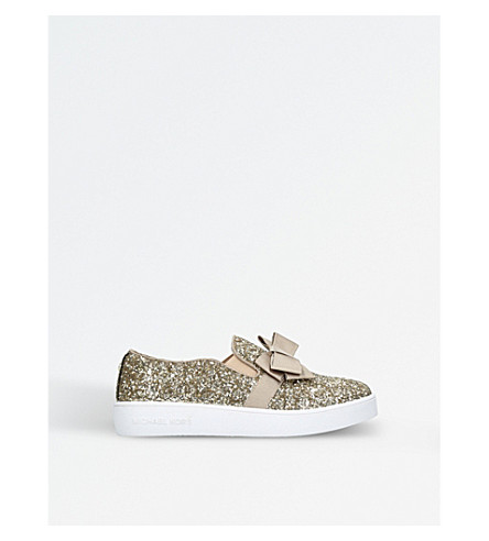 MICHAEL MICHAEL KORS Zia glitter trainers 7-8 years (Gold