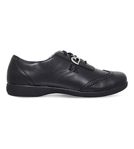 LELLI KELLY 金伯利皮革学校鞋6-11 年 (黑色