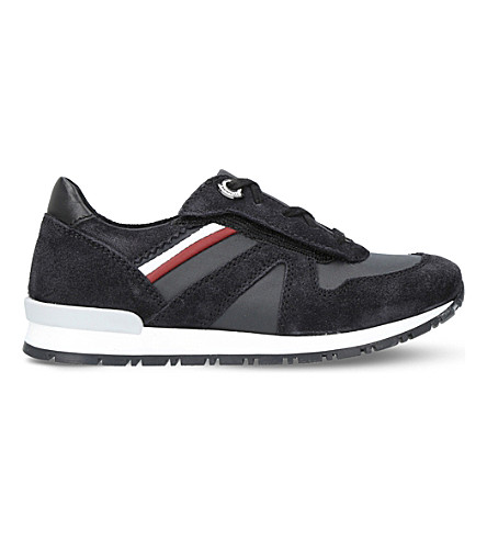 MONCLER Fabien suede trainers 6-9 years (Black