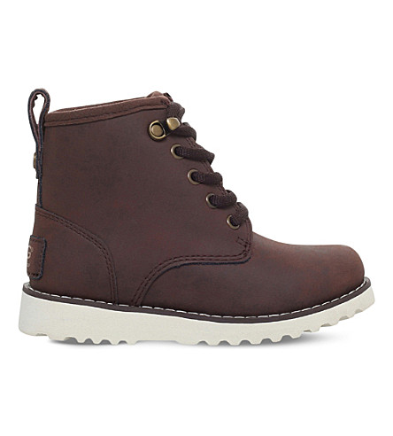 UGG Maple leather boots 7-10 years (Dark+brown