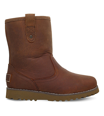 UGG Redwood leather boots 4-9 years (Brown