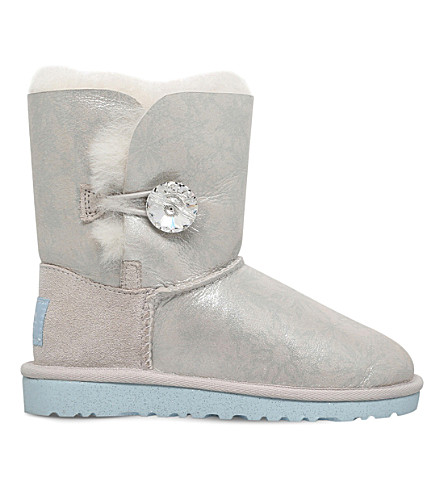 UGG Arendelle pearlescent sheekspin boots 4-9 years (Silver