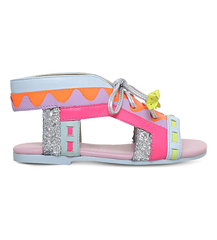 SOPHIA WEBSTER Riko leather sandals 2-8 years (Mult/other