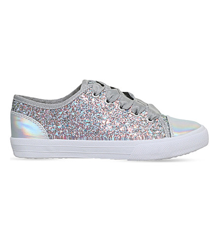 MINI MISS KG Mini Lucca glitter sneakers 7-10 years (Grey