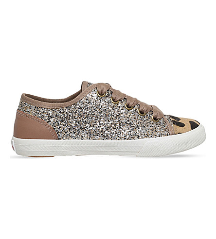 MINI MISS KG Mini Lucca glitter trainers 7-10 years (Gold