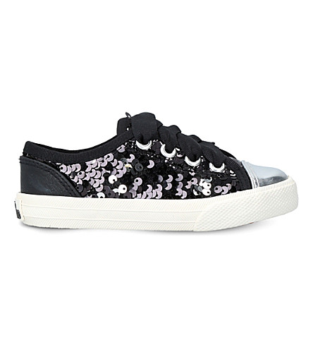 MINI MISS KG Mini lucca glitter trainers 3-7 years (Black