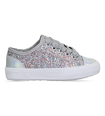 MINI MISS KG Mini Lucca glitter trainers 3-7 years (Grey