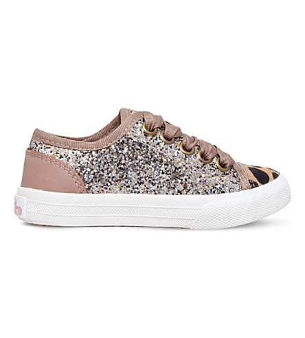 MINI MISS KG Mini Lucca glitter trainers 3-7 years (Gold