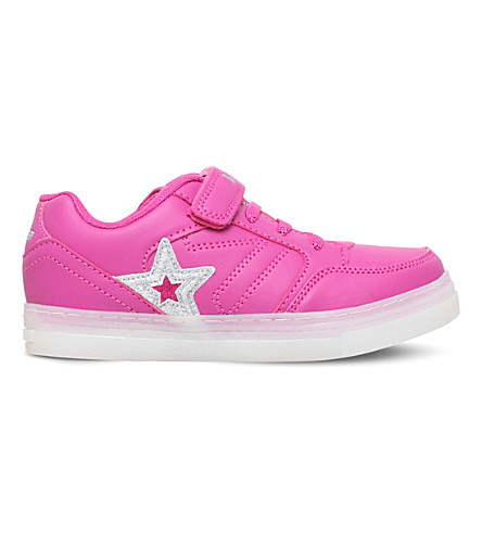 LELLI KELLY Tracy light-up leather trainers (Fushia