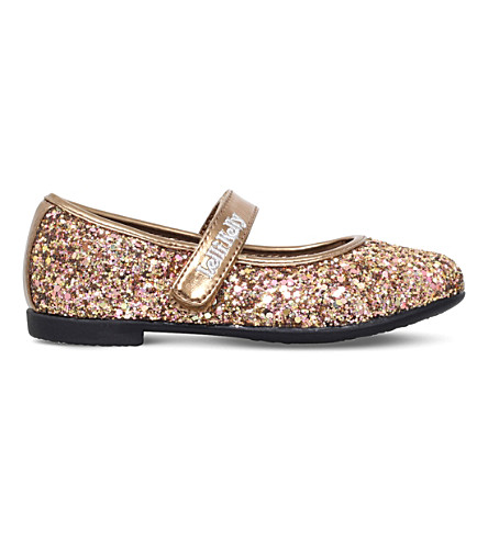 LELLI KELLY Giselle glitter mary jane shoes 4-9 years (Gold