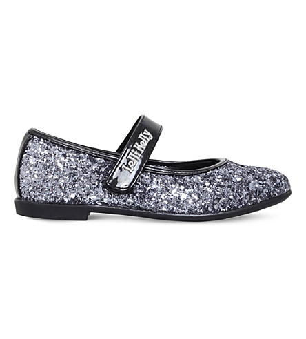 LELLI KELLY Giselle glitter mary jane shoes 4-9 years (Pewter