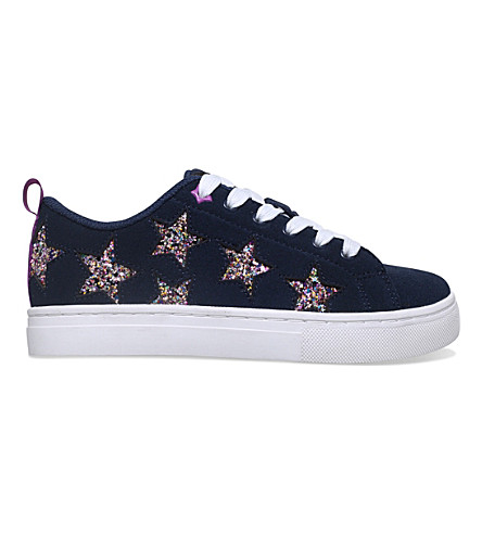 MINI MISS KG Galactic suede low-top trainers 3-7 years (Navy