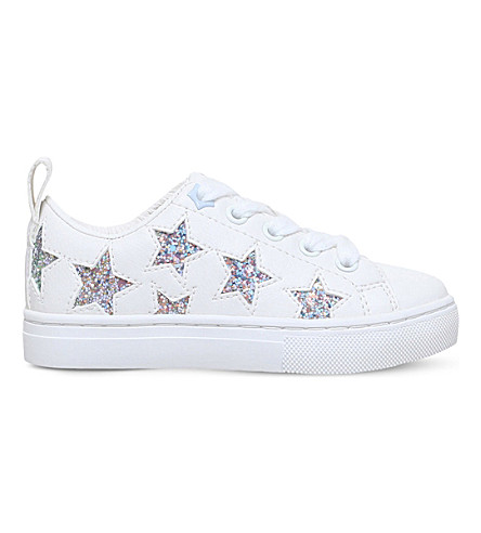 MINI MISS KG Galactic glitter star trainers 7-10 years (White