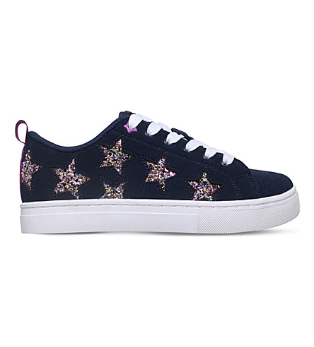 MINI MISS KG Galactic suede low-top trainers 7-10 years (Navy
