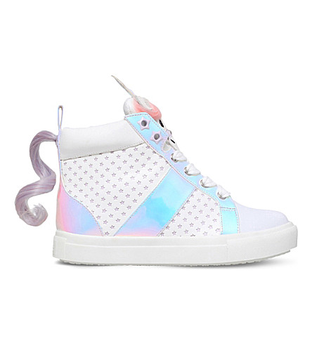 MINI MISS KG Magical unicorn detail trainers 3-7 years (White