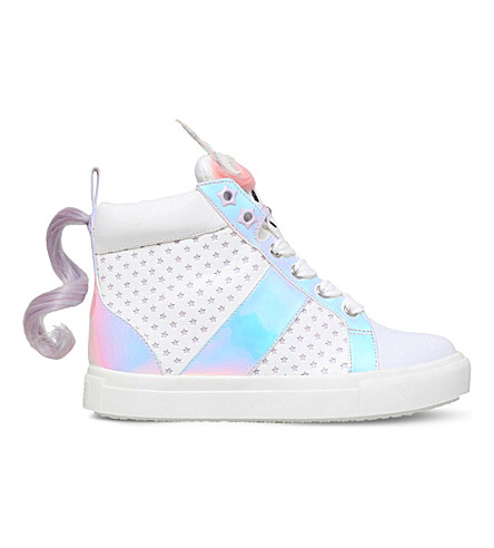 MINI MISS KG Magical unicorn detail sneakers 7-10 years (White
