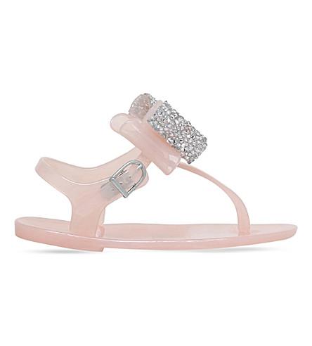 NATASHA ZINKO Mini Daisy bow sandals 4-6 years (Nude