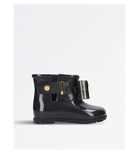MINI MELISSA Sugar Rain Patent Boots 6 months-5 years (Black