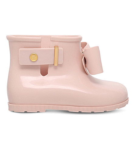 MINI MELISSA Sugar Rain Patent Boots 6 months-5 years (Nude