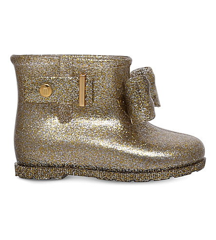 MINI MELISSA Sugar Rain glitter boots 6 months-5 years (Gold