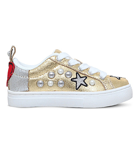MINI MISS KG Loveheart metallic trainers 3-7 years (Gold