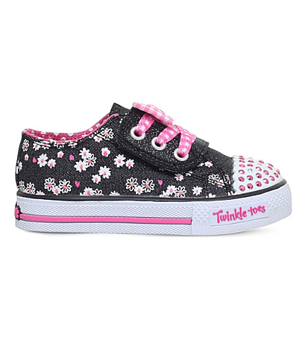 SKECHERS Shuffles Daisy Dotty light-up trainers 2-7 years (Blk/other