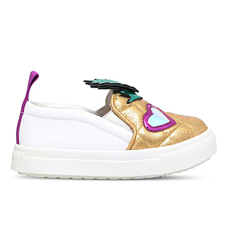 MINI MISS KG Pedro slip-on trainers 3-7 years (Gold