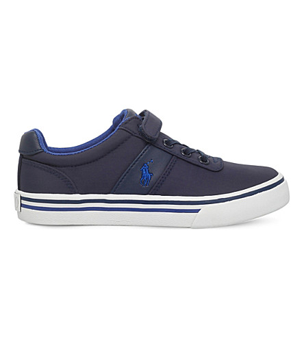 POLO RALPH LAUREN Hanford EZ faux-leather trainers 2-5 years (Navy