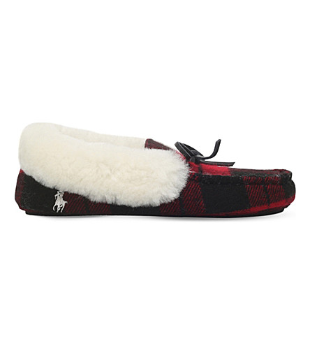 POLO RALPH LAUREN Allister tartan slippers 8-12 years (Red/other