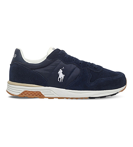 POLO RALPH LAUREN Polo racer suede trainers 2-10 years (Navy