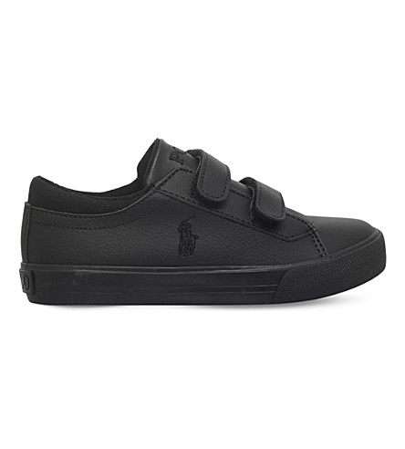 POLO RALPH LAUREN Harrison ez leather trainers 2-4 years (Black