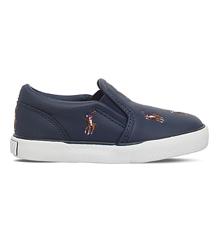 POLO RALPH LAUREN Bel Harbour Repeat Slip-On Sneakers 2-4 years (Navy
