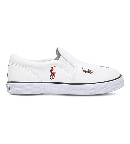 POLO RALPH LAUREN Bel Harbour Repeat Slip-On Trainers 5-7 years (White