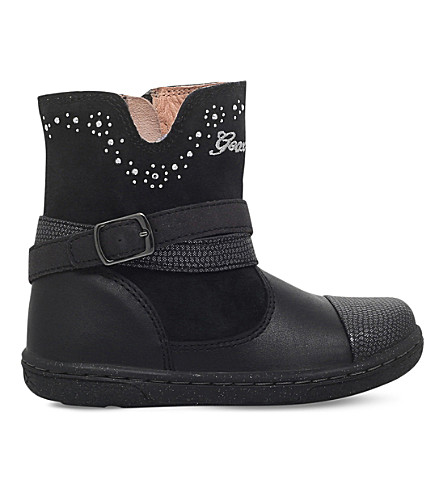 GEOX Flick beaded ankle boots 3-5 years (Black