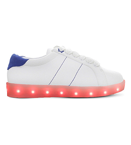 MINI MISS KG Lightning LED light-up sneakers 7-9 years (White/comb