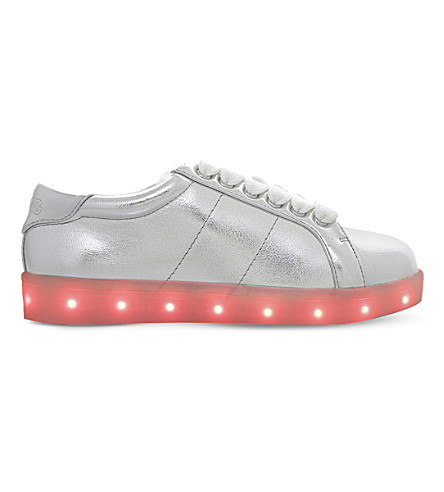 MINI MISS KG Lightning LED light-up metallic trainers 3-7 years (Silver